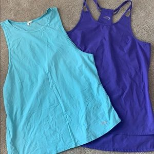 Two Athletic Tank Tops Large
